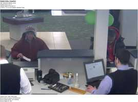 Police have released surveillance footage of a suspect in a Haverhill bank robbery.