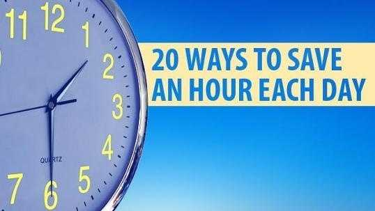 20 Ways to Save Hour Graphic