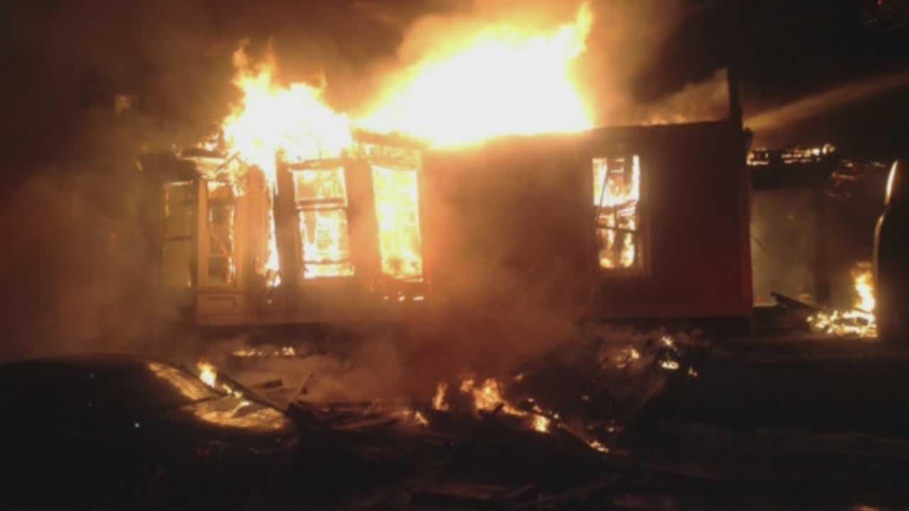 Crews battle 7-alarm fire