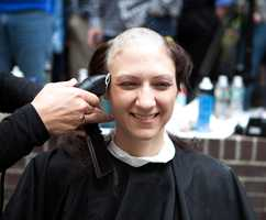 """""""Hair for girls is how we define ourselves,"""" said Jennifer Chu, """"but hair is easy because it will grow. You know you will have $5,000 donated from it."""""""