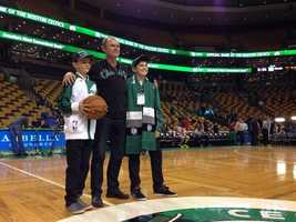 New Zealand boy Louis Corbett's dream came true -- seeing the Boston Celtics play before a degenerative eye disease leaves him blind.