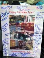 A birthday card from Station 7 of the Newton Fire Department