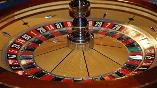 Casino gamling roulette wheel