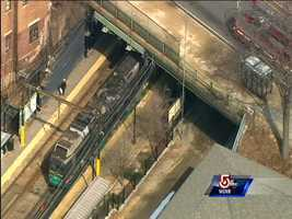 The derailment happened in an area where the tracks for the D and C lines intersect.