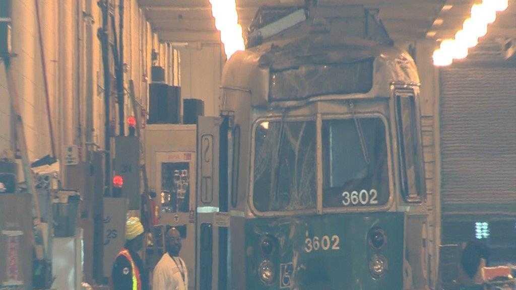 Green line trolley after crash 3.11