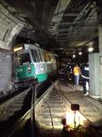 On March 10, 2014, a Green Line trolley derailed with passengers aboard in the tunnel just west of Kenmore Station.