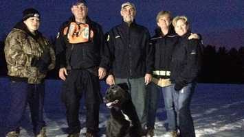 As a final goodbye to Machiko, the rescue team conducted a mock search inside Hopkinton State Park Tuesday evening.