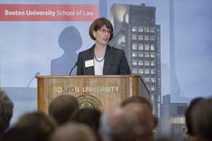Maureen O'Rourke is Dean of the Boston University Law School