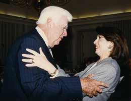 "Thomas P. ""Tip"" O'Neill (seen here with Rep. Nancy Pelosi) was the longtime speaker of the U.S. House of Representatives."