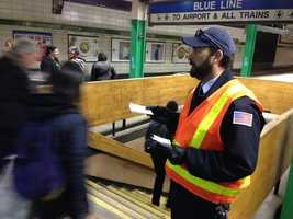 MBTA transit workers began alerting passengers to the changes coming.