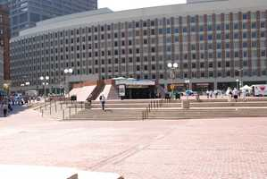 Existing City Hall Plaza photo