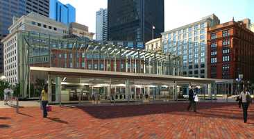 A rendering of the proposed entrance to City Hall Plaza.
