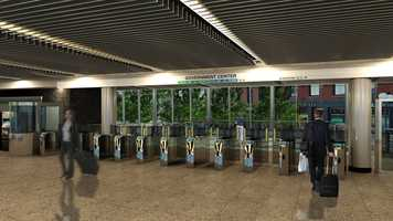 A look at the proposed interior of the new Government Center station lobby.