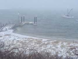 The Steamship Authority temporarily suspended ferry service for Martha's Vineyard and Nantucket due to high winds and rough seas.