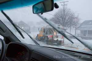 Road crews on Nantucket