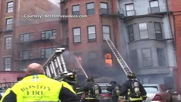 The Boston Fire Department said the fire started after welders were working in the rear of building.