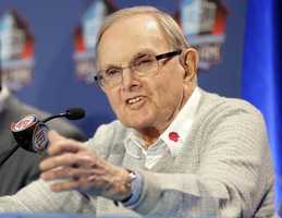 "During his 95 years, Buffalo Bills owner Ralph Wilson went from fan to ""Foolish Club"" member to the Pro Football Hall of Fame, enjoying every step along the way. In 1959, Wilson founded the Bills in helping establish the upstart American Football League, whose owners were dubbed ""The Foolish Club"" for having the chutzpah to challenge the NFL. Some five years later, Wilson played an influential role in the framework for the merger of the leagues. (October 17, 1918 – March 25, 2014)"