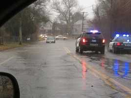 Water on Middle Road in Acushnet.