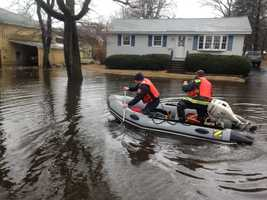 Flooding on Wentworth Avenue in Lowell