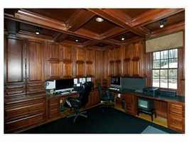 Beautiful Cherry paneled library