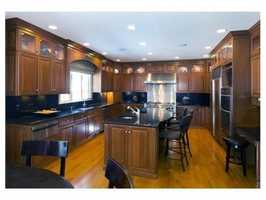 Gourmet kitchen with granite and top of the line appliances.