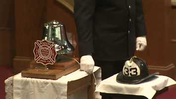 Firefighter bell ceremony for Lt. Ed Walsh