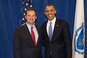James Murphy, seen in a 2012 photo with Pres. Obama, is a Massachusetts State Representative from Weymouth.