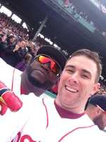 Officer Dic Donohue takes a selfie with Ortiz.
