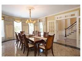 A formal dining room.