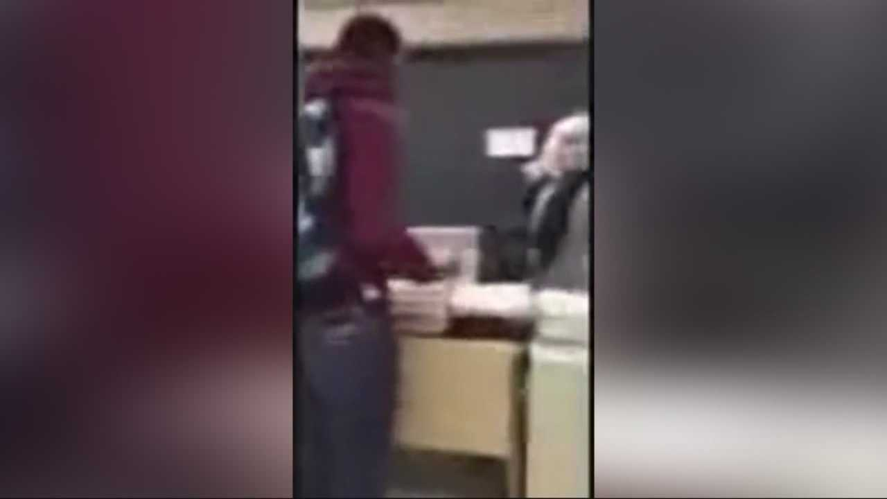 Teacher says job on the line after classroom confrontation