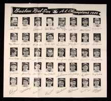1946 Boston Red Sox team premium photographic display.