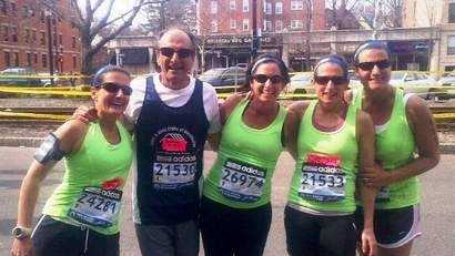 Joe D'Arrigo and his four daughters