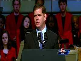 Mayor Martin Walsh speaks.