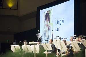 BU student Lu Lingzi is honored.