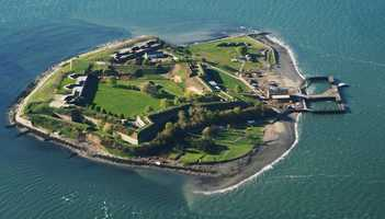 Boston Harbor contains a considerable number of islands, 34 of which are part of the Boston Harbor Islands National Recreation Area.