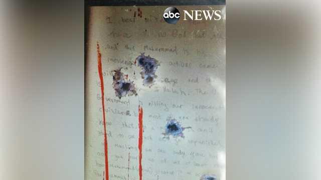 Dzhokhar Tsarnaev note