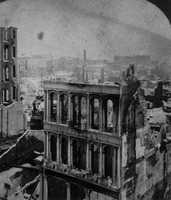 After The Great Boston Fire of 1872, workers used building rubble as landfill along the downtown waterfront.