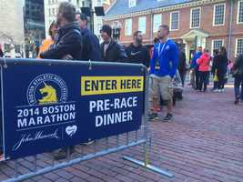 A pre-race pasta dinner was held at City Hall for runners Sunday night.