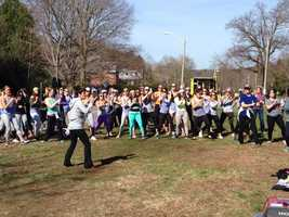 Danceathon at Heartbreak Hill, reclaiming the Boston Marathon spirit.