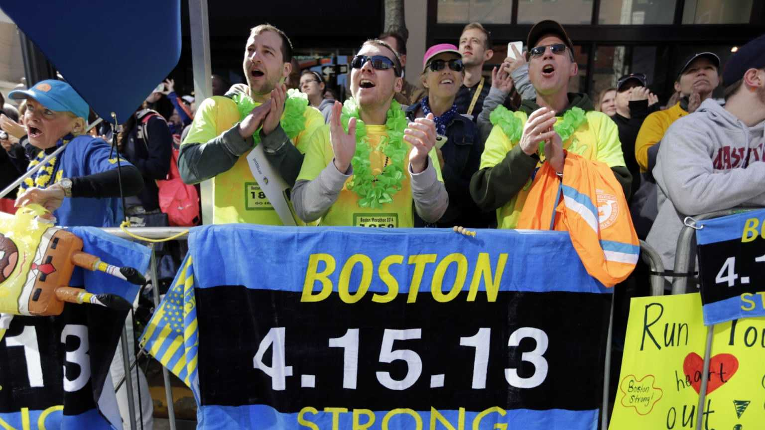 Boston Strong Marathon Crowd Support