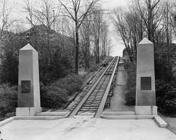 1826: The first horse-drawn American railroad was built in Quincy to draw granite blocks from Quincy to Bunker Hill Monument in Charlestown.