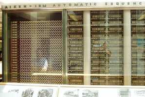 1944: Howard Aiken of Harvard developed the first automatic digital computer. The machine was 50 feet long, 8 feet tall, and weighed approximately 5 tons.