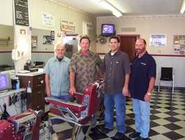 "George's Barber shop in Saugus advertises itself as ""America's Oldest Barber Shop."" It was founded in 1902."