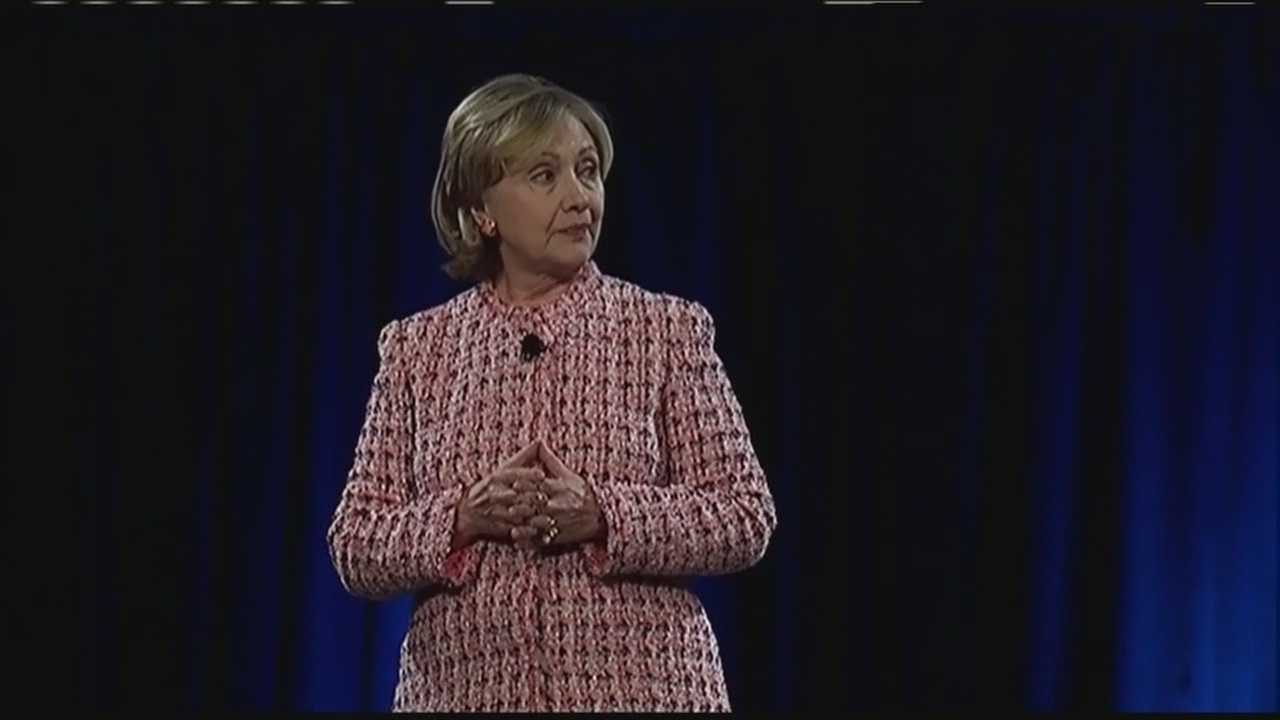 Hillary Clinton talks equality, building stronger economy at Simmons