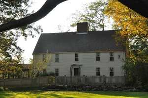 The James Noyes House, built circa 1646, is located in Newbury.