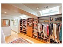 Walk-in closets.