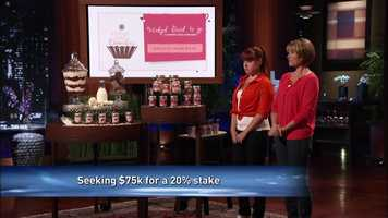 The mother and daughter team's Wicked Good Cupcakes product was pitched on the show over a year ago. The two were asking for capital for a portion of the business.