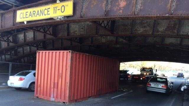 Truck Strikes Longfellow Bridge