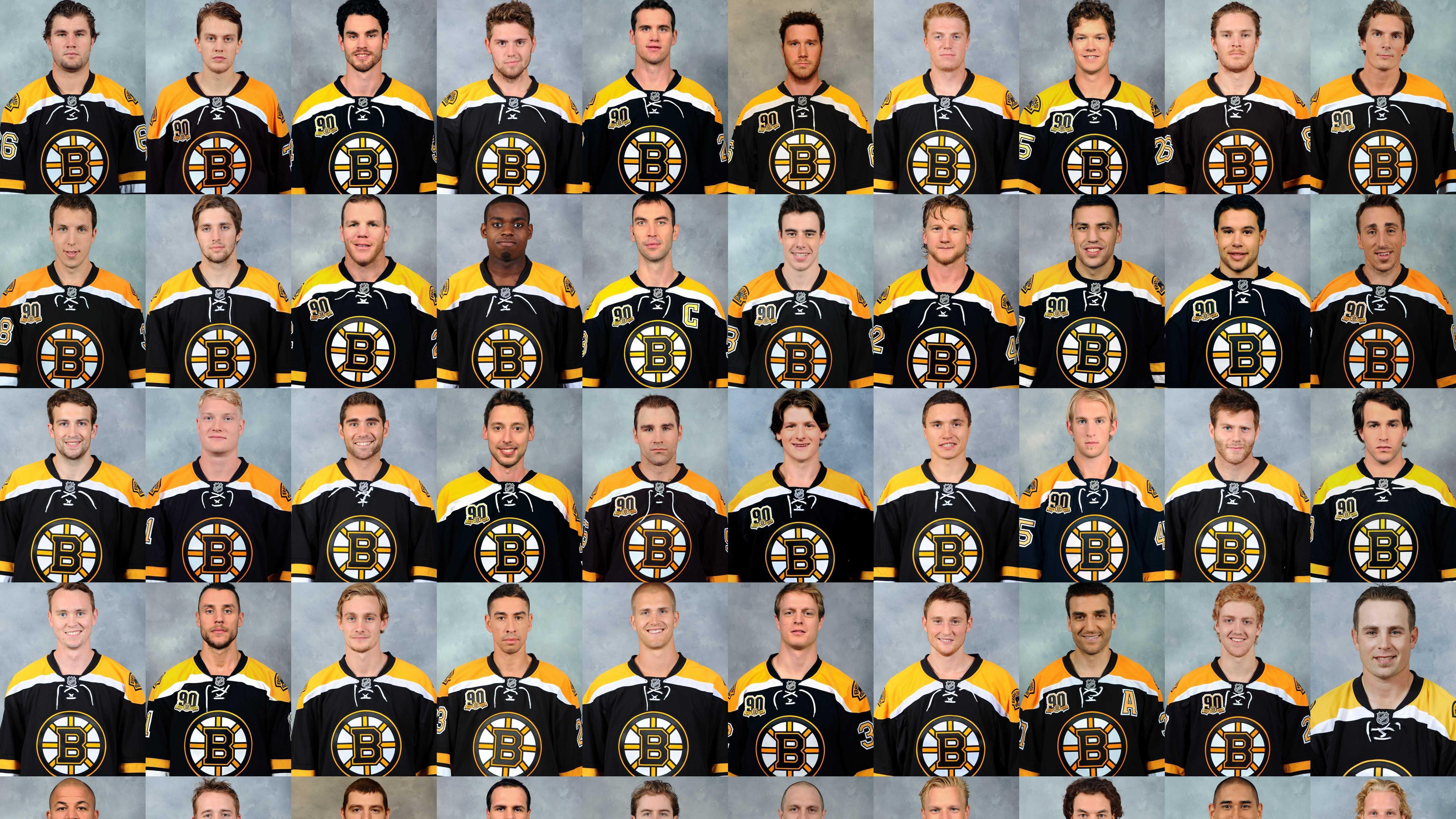 Boston Bruins headshot collage