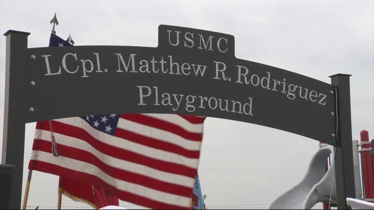 Playground named after fallen local marine